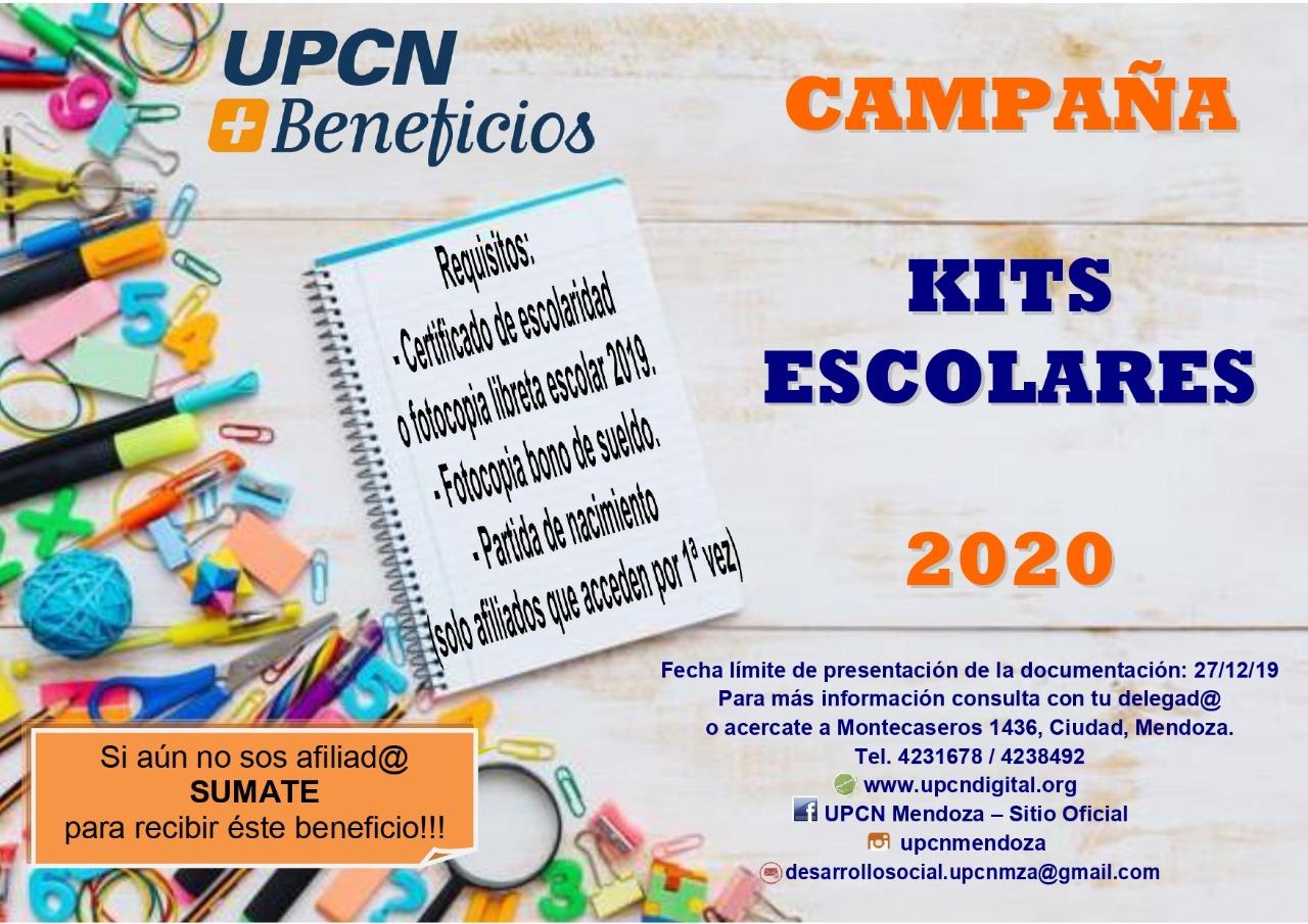 Resultado de imagen de kits escolares de UPCN 2020